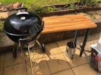 Kettle BBQ side table for 57cm Kettle grills weber